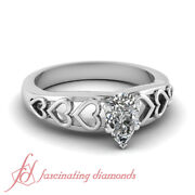 .40 Ct Pear Shaped Antique Art Deco Engagement Rings Gia Diamond Ring Sz 5-11
