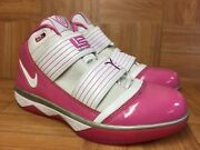 Rare🔥 Nike Zoom Lebron Soldier 3 Player Exclusive Cancer Awareness Patent Pink
