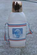 Vintage Large French Lourdes Portable Plastic Drinking Bottle Holy Water 362