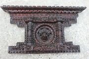 Antique Carved Sculpted Wood Wooden Ornate Ornamental Small Pediment 168