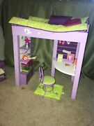 American Girl Doll Mckenna's Loft Bed/desk Set With Most Accessories