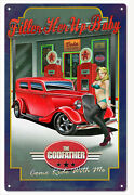 The Godfather Filler Up Baby Hot Rod Sign Classic/hot Rod Car Signs