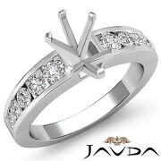 Diamond Engagement Oval Semi Mount Womenand039s Ring Channel Setting Platinum 0.7ct