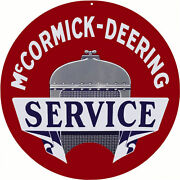 Mccormick Deering Service Station And Gas Sign