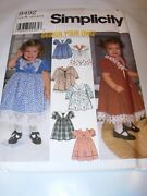 Childs Toddler Uncut Simplicity Sewing Pattern 9492 Dress Flower Girl Size 1/2-4
