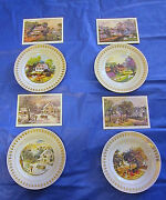 Fantastic 4 Currier And Ives Plates American Historic Society W/ Lithographs .