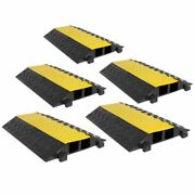 5-pack Modular Rubber 2-cable 20,000 Lb Electrical Wire Cover Ramp Protector