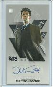 Topps Doctor Who Tenth Doctor Adventures David Tennant Silver Autograph Ed / 10