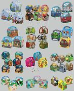 5 Party Food/lunch Boxes - Range Of Themes/occasions/patterns{birthday/card}1c