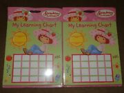 2 Pkg. Strawberry Shortcake My Learning Chart Incentive Pad-50 Sheets Per Pkg.