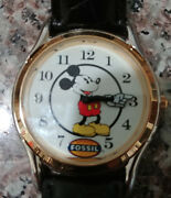 Rare Fossil Ds-322 L.e. Mans Mickey Mouse Character Watch Lot
