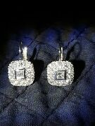Gorgeous Kwiat 18k And Platinum Diamond Earings On French Wire