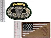 Ranger Us Army 1st Air Cavalry Division And Airborne Parachutist Wings V Hook Cro