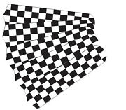 New Nascar Checkered Flag 52 Ceiling Fan Blades Only