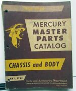 1956-1959 Mercury Dealer Master Chassis And Body Parts Catalog Book All Cars