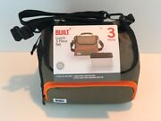 Built Ny Prime Lunch Bag With Food Container Olive/orange Nwt