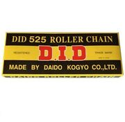 Did Standard 525 Chain 110 Links Natural For Street Motorcycle