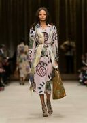 Prorsum Hand Painted Printed Trench Coat 38 Nwt 3984