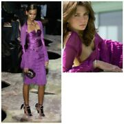 By Tom Ford 2004 Runway Strappy Purple Dress Excellent 42