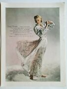 1948 Womenand039s Chevette Floral Gown Robe French Fabrics Co Vintage Lingerie Ad