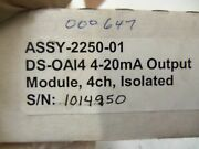Omnex Ds-oa14 4 Channel 4-20ma Isolated Output Module Assy-2250-01 New In Box