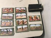Siege Of Port Arthur Stereoview Cards Boxed Set Missing Few Big Lot