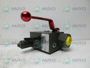Hydac Saf20e12y1t250a Safety And Shut-off Block New No Box