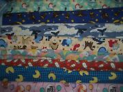 Flannel Animals Zoo Ocean Bty Cotton Quilt Fabric U-pick See Listing For Details