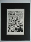 '76 Marvel Two-in-one 22 Ron Wilson Pablo Marcos Pg 1 Production Art Thor Seth