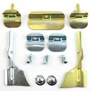55 56 57 Chevy Windshield Lower And Corner Stainless Molding Trim Clip Set