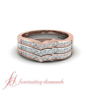 .50 Ct Round Cut Diamond Two Metal Affordable Stackable Wedding Ring 14k Gold