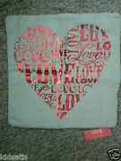 Zara Home Love Is In The Air Red Text Heart Cushion Cover Bnwt Andpound19.99 In Store