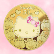 Hello Kitty 50 20 +30 Gold Coin Proof Color Limited Sanrio 50th Last