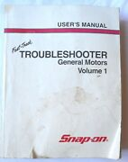 2000 Gm Troubleshooter Snap On Manual Chevrolet Cadillac Buick Olds Pontiac