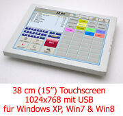 15in 15 Dipslay With Usb Touchscreen For Windows Xp Win 7 8 32+ 62bit