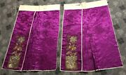 Antique Chinese Qing Dynasty Hand Embroidery Applique Work Gold Threads Skirt