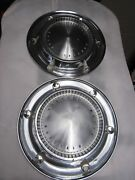 Pair Of Vintage Pmd Pontiac Motor Division 14 Hub Caps 1950and039s 1960and039s Chrome 2