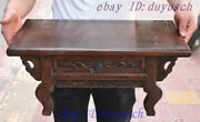 22 Old Chinese Huanghuali Wood Carved Two Dragon Statue Drawer Coffee Table Desk