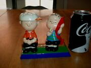 Peanuts - Charlie Brown And Linus, Ceramic Figurine / Statue 1971 Yr Official Lic.