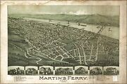 Poster Many Sizes Map Of Martinand039s Ferry Ohio 1899