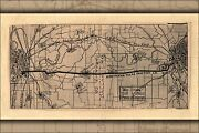Poster Many Sizes Map N Texas Trac Co. Ft. Worth To Dallas 1905