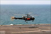 Poster, Many Sizes Sa-319b Alouette Iii Helicopter, Uss George H.w. Bush Cvn 7