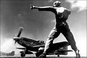 Poster Many Sizes North American P-51 Mustang Takes Off From Iwo Jima