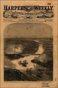 Poster Many Sizes Attack On Fort Darling James River With Uss Monitor 1862