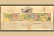 Poster Many Sizes Map Of The Virginia And Tennessee Railroad 1856