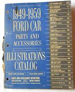 1949 - 1959 Ford Car Chassis And Body Parts And Accessories Parts Catalog Book