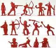 Marx Recast 60mm Indians - 14 In 14 Poses - Unpainted Figures From The 1980s