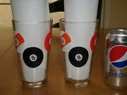 Billiard Balls, Game Of Pool, Clear Drinking Glasses, Total Of 2, Vintage