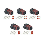 5 Sets 4 Pin Female Waterproof Automotive Connector With Terminal Dj3042-1.5-21