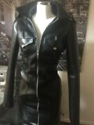 The Federation Faux Leather Military Style Dress All Sizes Plus Sizes